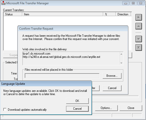 Microsoft Dynamics file exchange system