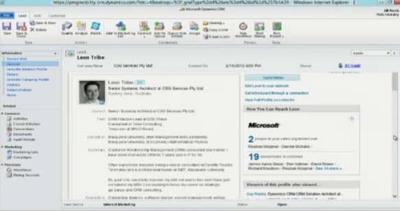 LinkedIn solution coming to Microsoft Dynamics CRM