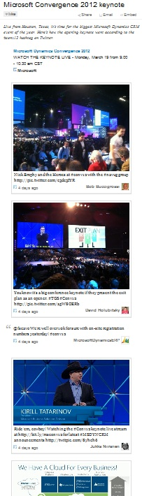 Microsoft Convergence 2012 keynote summary on Storify