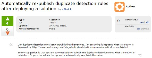 Did you just disable duplicate detection in CRM by accident?