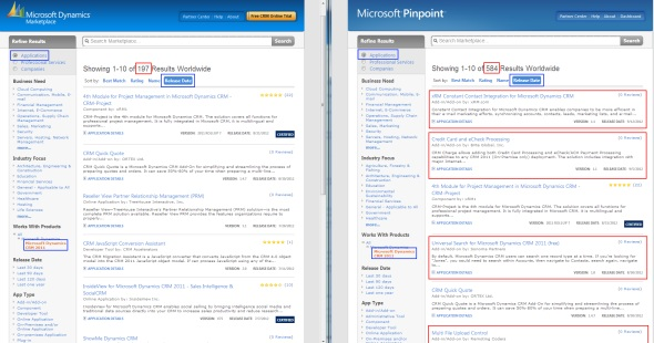 Dynamics Marketplace vs. Microsoft Pinpoint: where are all the CRM apps?