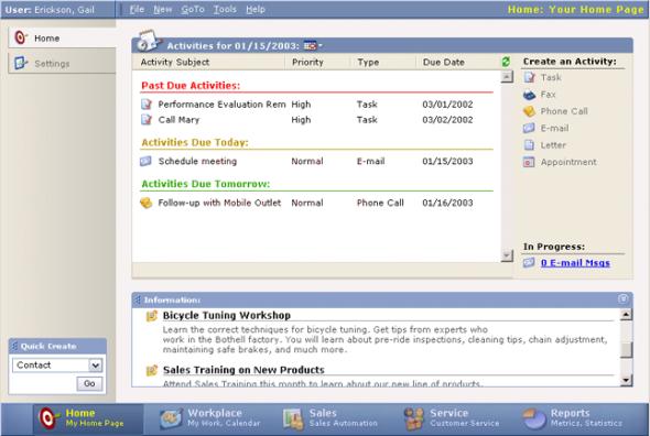 Microsoft CRM 1.0