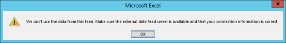 Connecting to CRM Online OData feed with Excel 2013 Power Query