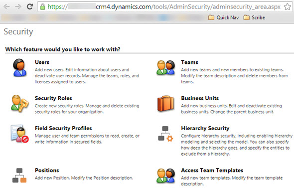 CRM_2015_Security_menu