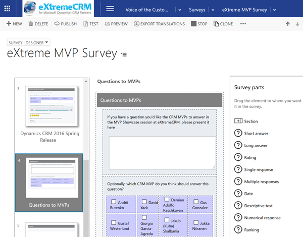 eXtremeCRM_MVP_survey