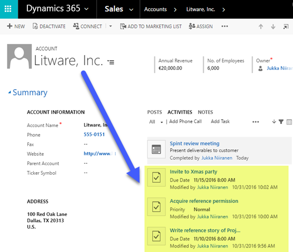 Activity Management Enhancements in Dynamics 365 (v8 2) - Surviving CRM
