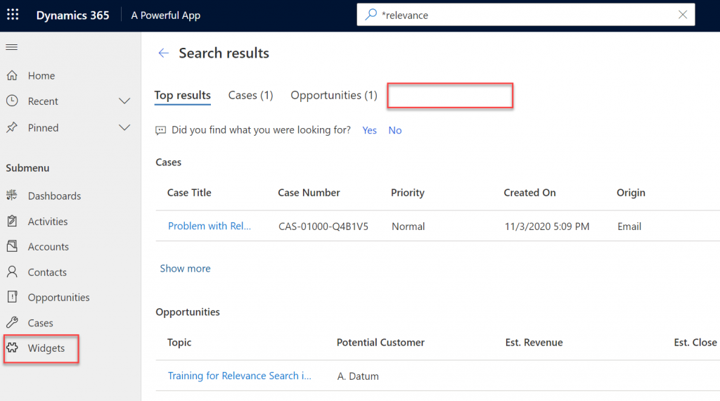 Make your Power Apps search experience more Relevant